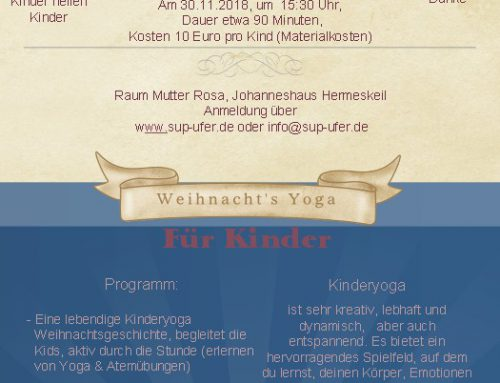 Charity Kinder Yoga am 30.11.